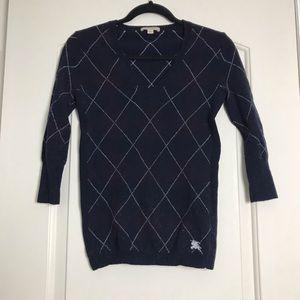Burberry Argyle design sweater made of Merino wool